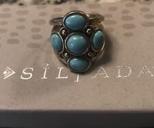 SILPADA Brass And Turquoise Ring Size 10 Never Released New Rare