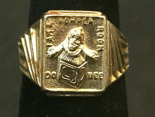 1960's Romper Room Do Bee Ring Aluminum? Adjustable Universal Size Gold Tone