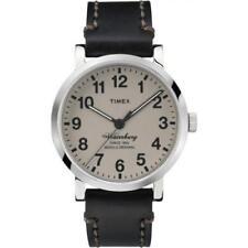 Orologio Timex TW2P58800 waterbury in pelle nero moda uomo fondo beige classic
