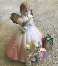 Josef Originals Birthday Girl Age 14 Angel Figurine Parasol Box