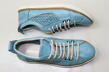GEOX RESPIRA Basket Cuir Turquoise T 37 EUR  TBE