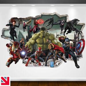 AVENGERS SUPERHEROES Wall Sticker Vinyl Decal Mural Poster