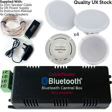Bluetooth & Waterproof Ceiling Speakers – 4x 80 Watts Kitchen Speaker Stereo Kit