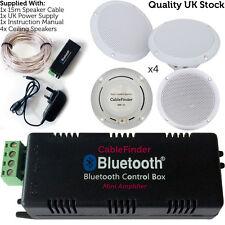 Bluetooth & Waterproof Ceiling Speakers – 4x 80 Watts Kitchen Speaker Stereo Kit
