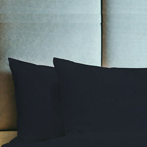 King Queen Standard Pillowcase Pillow Case Egyptian Cotton Feel 1800 Count Case