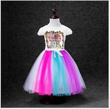 Beautiful Frozen Dress Costume Toddler Girls Rainbow Dash Girls Dresses