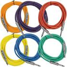 SEISMIC AUDIO New 6 PACK Colored 1/4