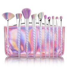 10Pcs Unicorn Diamond Mermaid Make up Brushes Set Powder Foundation Contour Hot