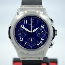 Hublot MDM 1810.1 Blue Steel Chronograph Automatic Date Wristwatch