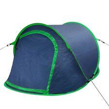 Tienda de Campaña dos personas camping mosquitera pop Up 3 colores Azúl marino y verde