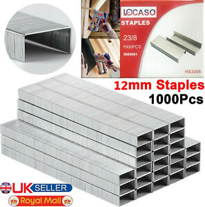 1000pc 12mm Staples Staple Gun Tacker Pack of 1000 Upholstery Stapler Heavy Duty