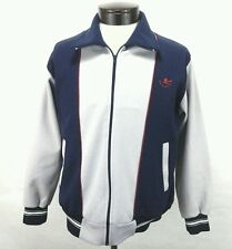 Mens True Vtg Mens Rockabilly Baseball Jacket Varsity Blue Gray Medium EU 40