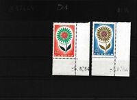 Monaco 782-783 (kompl.Ausg.) postfrisch Eckrandstücke mit Druckdatum