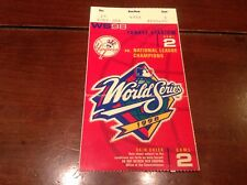Posada Hr 1998 World Series Ticket NY Yankees San Diego Padres g3  Derek Jeter