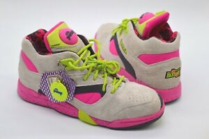 New Reebok Court Victory Pump X Extra Butter Grey/Pink/Green/Black sz 10.5 RARE