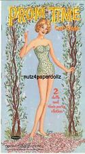 VINTGE 1962 PROM TIME PAPER DOLLS ~GORGEOUS HD LASER REPRODUCTION~ORIG. SZ UNCUT