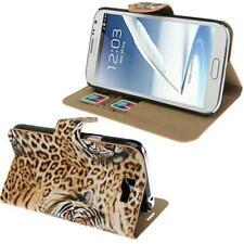 Tigre Funda Libro Estuche Para Móvil Samsung s7560 Galaxy Trend braun