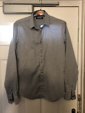 DKNY Men's Grey Spotted L/S Shirt Size Small