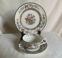 "Copeland Spode ""Chinese Rose"" Trio. Teacup + saucer + dessert plate. Old Mark."
