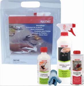 Akemi Care kit sealing, deep cleaning, polish of granite worktops, marble, stone
