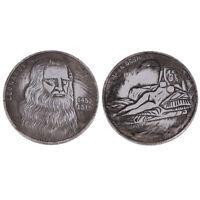 Italy Da Vinci made old white copper silver coins silver dollar collection coins