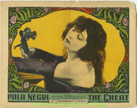 THE CHEAT  LOBBY CARD size 11x14 Inch MOVIE POSTER 1923 POLA NEGRI & TELEPHONE !