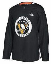 adidas Pittsburgh Penguins NHL Men's Climalite Practice Jersey, Black