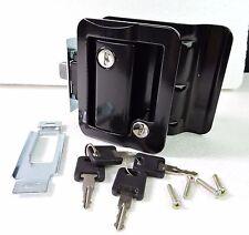 Black RV Paddle Entry Door Lock Latch Handle Knob Deadbolt NEW Camper Trailer