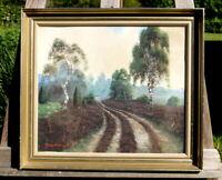 altes Ölgemälde Holmen-Westergaard (geb. 1878) Heidelandschaft Künstlerarbeit