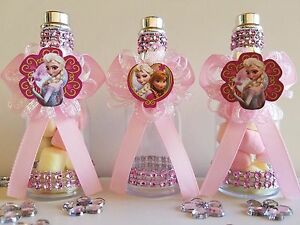 Frozen Elsa 12 Fillable Champagne Bottles Birthday Girl Party Favors Decorations