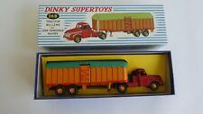# 36 B DINKY SUPERTOYS VOITURE CAMION TRACTEUR WILLEME ET SEMI REMORQUE BACHEE