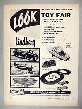 Lindberg Hobby Model Kits PRINT AD - 1966 ~~ slot cars, HO railroad, kit, GT 200
