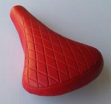 Kids Child Bicycle Saddle Comfortable  BMX Free Style Fixie Bike Seat(red)