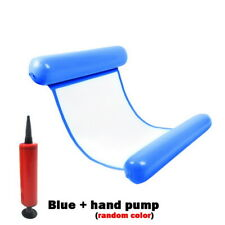 Inflatable Floating Water Hammock Buoy Pool Lounge Bed Swimming Chair+Pump Hot