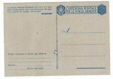 Cartolina Postale (7) per le Forze Armate Regio Esercito franchigia fascista