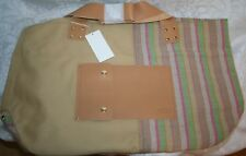 UGG AUSTRALIA NOVELTY CANVAS TOTE BAG SAND/MULTI-COLOR TE015