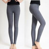 Women's Cashmere Wool Warm Leggings Snug Seamless Pants Thick Trouser Winter