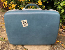 Vintage Retro Samsonite Hard Shell Suitcase Luggage Blue Combination Lock