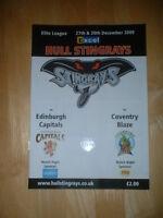 2009/10 HULL STINGRAYS V EDINBURGH CAPITALS & COVENTRY BLAZE ICE HOCKEY