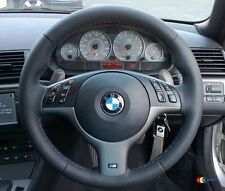 BMW NEW 3 5 SERIES E46 E39 M SPORT STEERING WHEEL TITAN - SHADOW COVER TRIM