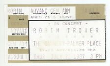 Rare Robin Trower 7/23/87 Nashville Tn The Cannery at Palmer Place Ticket Stub!