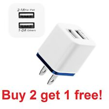 Audio Video Dual USB Wall Charger for Apple iPad and iPhone
