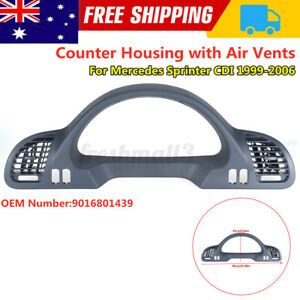 For Benz Sprinter CDI 1999-2006 Dashboard Panel Counter Housing Cover + Air Vent