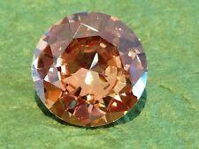 ONE PC - 1.25 Ct Russian Sim CHAMPAGNE Diamond BRILLIANT CUT- (7 mm)