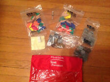 Teaching:Eta Cuisenaire Math Manipulatives-2 bags pattern blocks,3 bag coins,dic