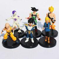 Anime 6pcs lot 12cm Dragon Ball Z PVC Figures Son Goku Burdock Vegeta Frieza New