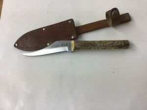 """Vintage Kabar """"Rifle Knife,""""  Stag Handle, w/ Sheath, Excellent Condition"""