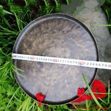 """Low Sounds 14"""" Tibetan Ritual Taoism Ritual Celebration Gong Bell Bronze #1597"""