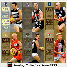 2012 Select AFL Champions Trading Cards Milestone Card Full Set (74)-1st Subset