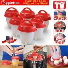 6pcs/set Egglettes Egg Cooker Hard Boiled Eggs Cups As Seen On TV FREE SHIPPING!